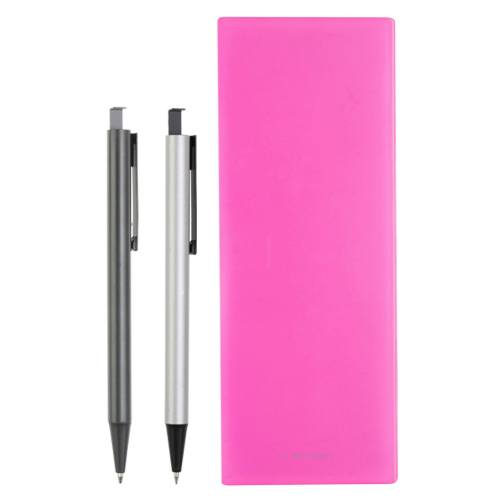 ست خودکار مدادنوکی و جامدادی لاتن مدل Dark Pink