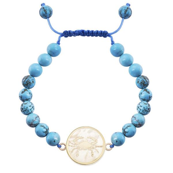 دستبند طلا 18 عیار مرجان مدل0708