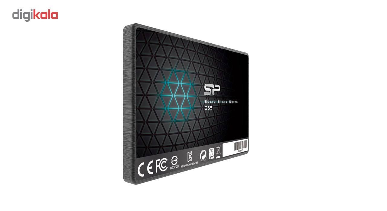 اس اس دی اینترنال SATA3.0 سیلیکون پاور مدل Slim S55 ظرفیت 240 گیگابایت main 1 4