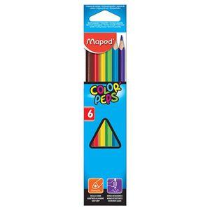 مداد رنگی 6 رنگ مپد مدل Color Peps کد 832002