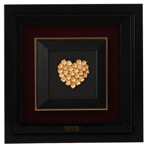 تابلو ورق طلا گالری الون طرح قلب کد 198183