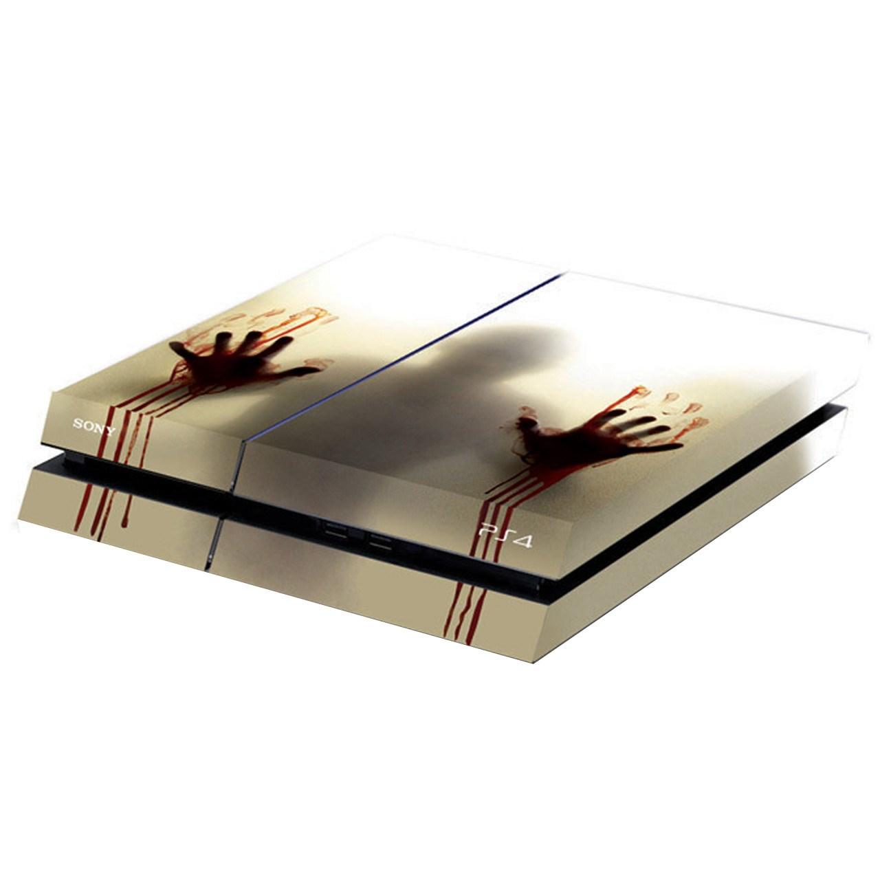 عکس برچسب افقی پلی استیشن 4 گراسیپا طرح Walking Dead