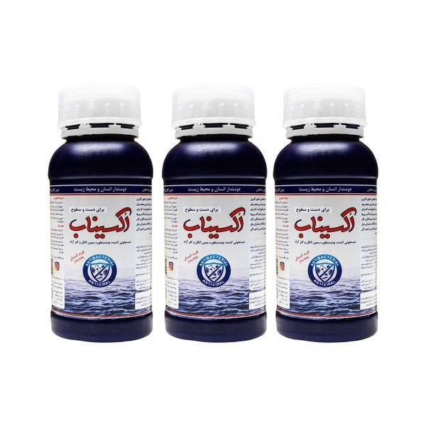 پودر ضدعفونی کننده دست و سطوح اکسیناب کد ۰۱ وزن ۱۲ گرم مجموعه ۳ عددی