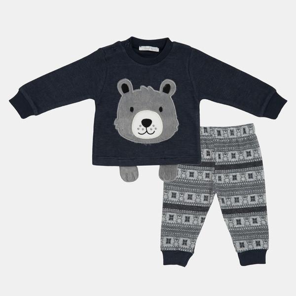 ست تی شرت و شلوار نوزادی پسرانه فیورلا مدل پتی بورن 20509