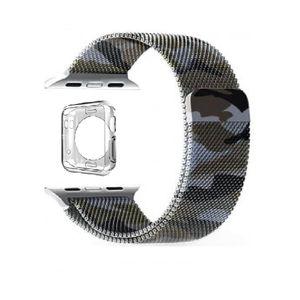 بند فلزی مدل Milanese ارتشی به همراه یک عدد کاور TPU مناسب برای اپل واچ 38 میلی متری