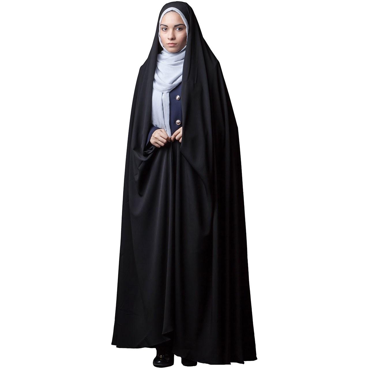 چادر  ایرانی کرپ کریستال حجاب فاطمی مدل 201152kr