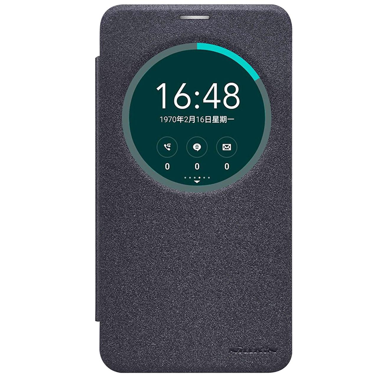 کیف کلاسوری نیلکین مدل New Leather Sparkle مناسب برای گوشی موبایل ایسوس Zenfone 2 Laser/ZE601KL