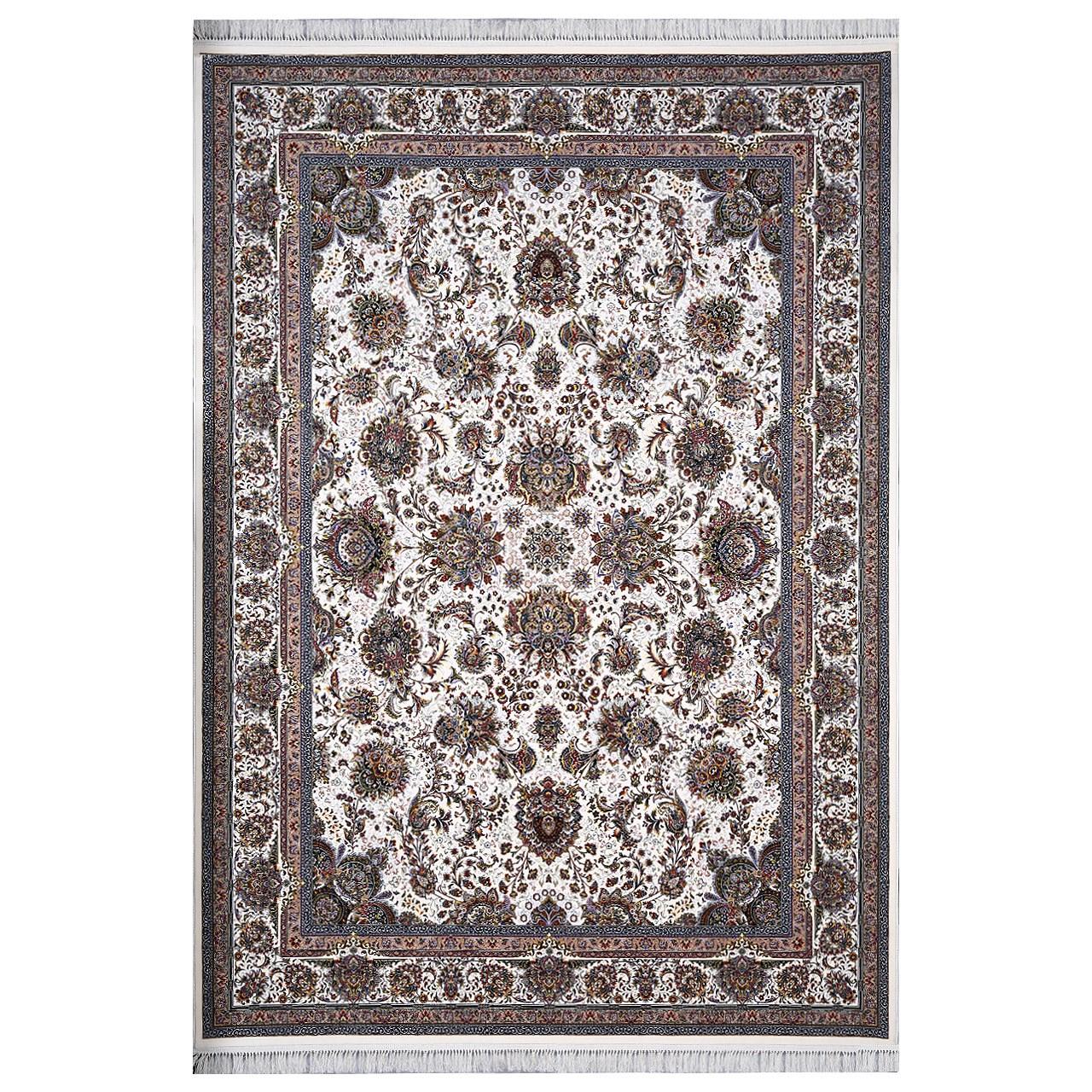فرش ماشینی فرش هدیه طرح یاشار زمینه کرم