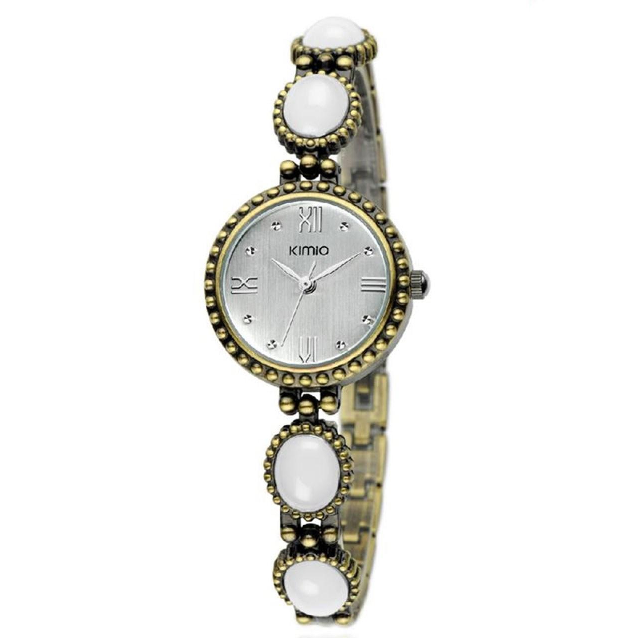 ساعت مچی عقربه ای زنانه کیمیو مدل K491S-WHITE