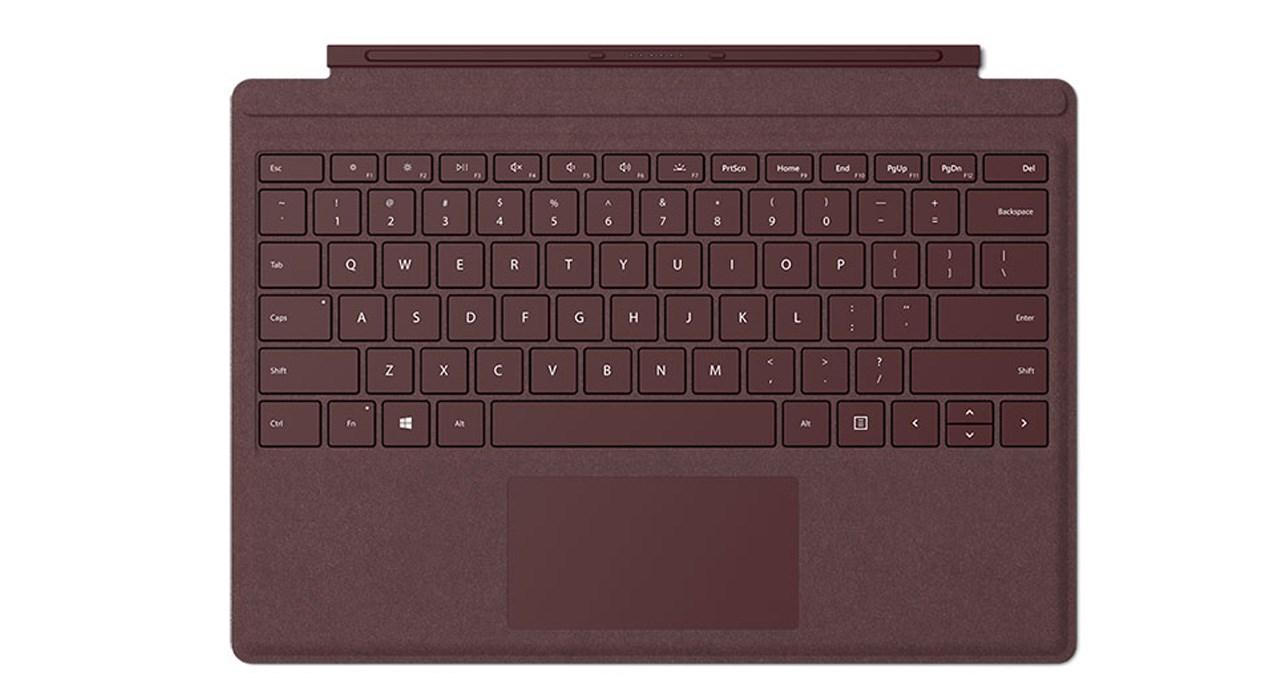 کیبورد تبلت مایکروسافت مناسب برای تبلت سرفیس پرو مدل Signature Type Cover