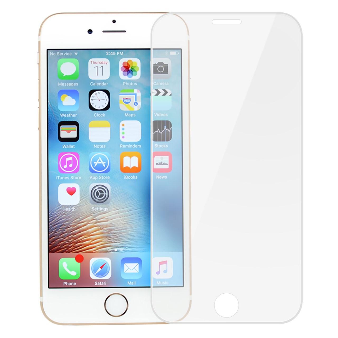 محافظ صفحه نمایش شیشه ای تمپرد مدل Full Cover Jelly Edge مناسب برای گوشی موبایل آیفون 6/6s