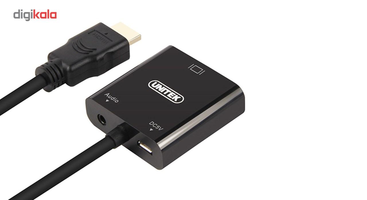 مبدل HDMI به VGA یونیتک مدل Y-6355 همراه با آداپتور Micro/Mini HDMI