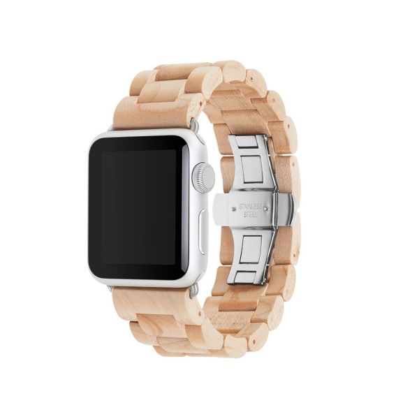 بند ساعت چوبی وودسسوریز مدل EcoStrap مناسب برای اپل واچ 42 میلیمتری