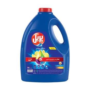 مایع ظرفشویی پریل 5+ با رایحه لیمو مقدار 3.75 کیلوگرم