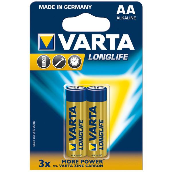باتری قلمی وارتا مدل LongLife Alkaline LR6AA بسته 2 عددی
