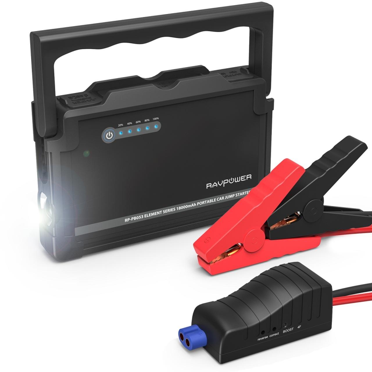 شارژر همراه و استارتر خودرو راو پاور مدل RP-PB053 ظرفیت 18000 میلی آمپرساعت              ( قیمت و خرید)