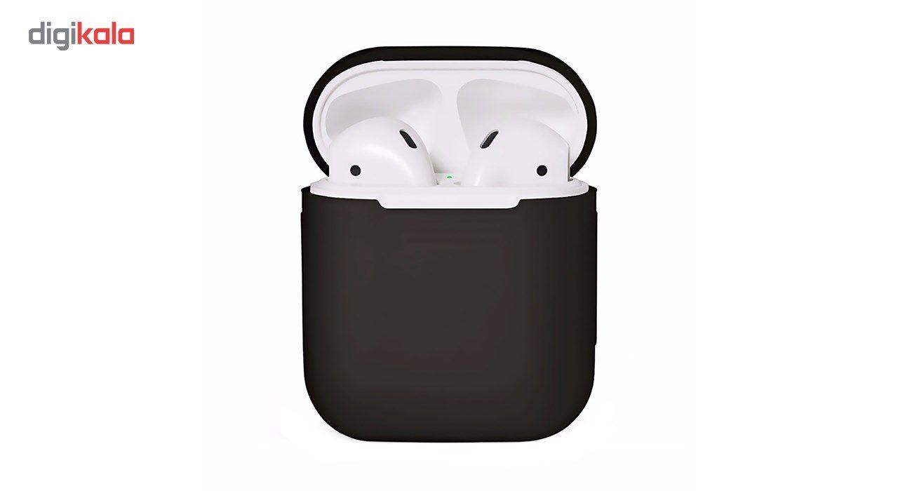 کاور محافظ سیلیکونی به همراه یک بند نگهدارنده مناسب برای کیس Apple AirPods main 1 1
