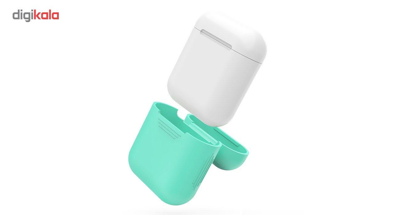 کاور محافظ سیلیکونی به همراه یک بند نگهدارنده مناسب برای کیس Apple AirPods main 1 4