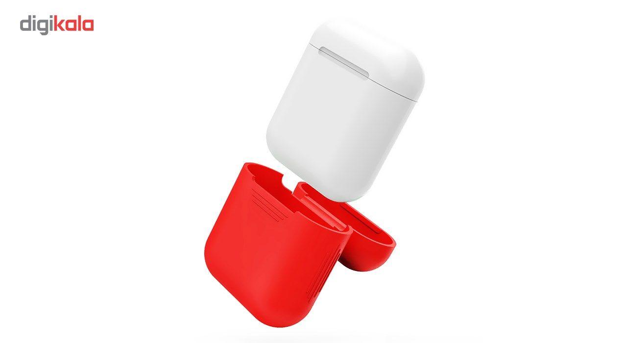کاور محافظ سیلیکونی به همراه یک بند نگهدارنده مناسب برای کیس Apple AirPods main 1 5