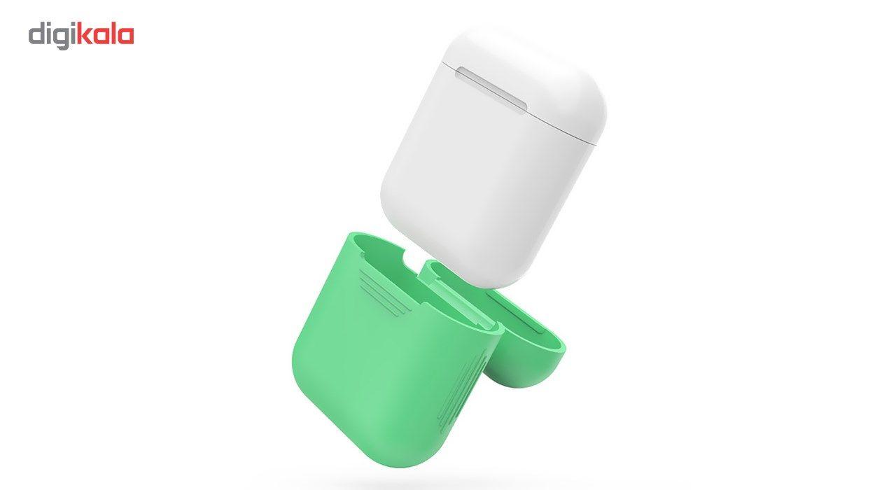 کاور محافظ سیلیکونی به همراه یک بند نگهدارنده مناسب برای کیس Apple AirPods main 1 6