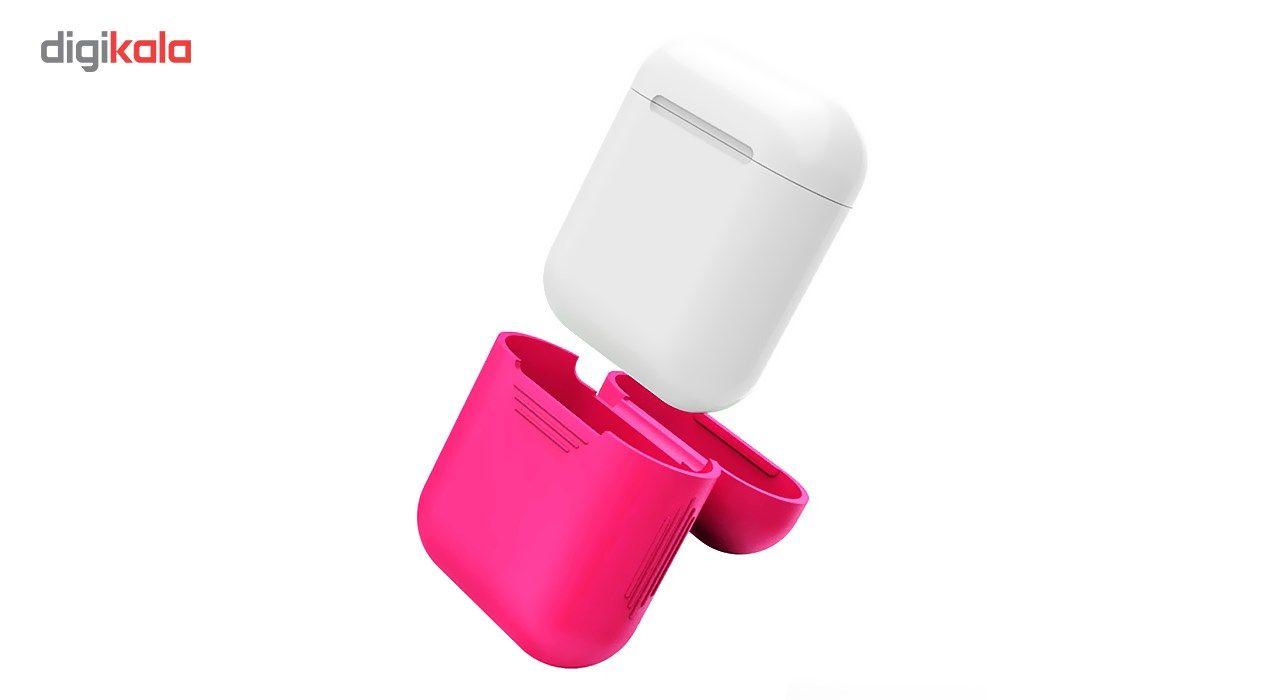 کاور محافظ سیلیکونی به همراه یک بند نگهدارنده مناسب برای کیس Apple AirPods main 1 7