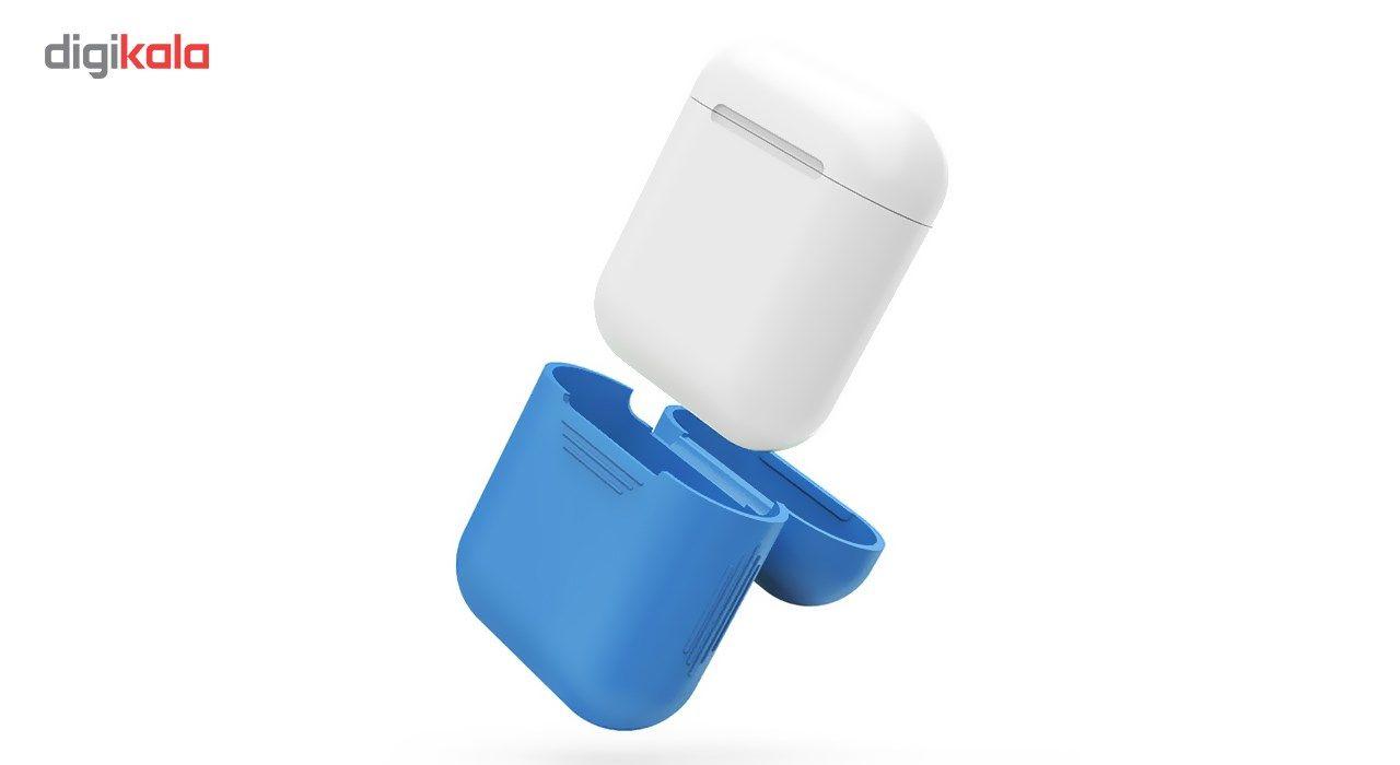 کاور محافظ سیلیکونی به همراه یک بند نگهدارنده مناسب برای کیس Apple AirPods main 1 8