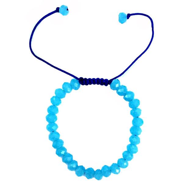 دستبند عود مدل 100101 طرح کریستال آبی