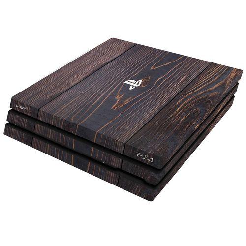 برچسب افقی پلی استیشن 4 پرو ونسونی طرح Wooden