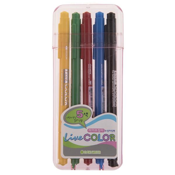 ماژیک رنگ آمیزی 5 رنگ مونامی مدل Live Color