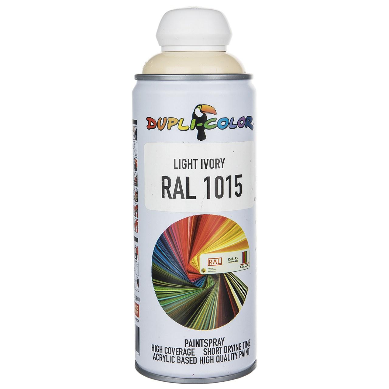 قیمت                                      اسپری رنگ استخونی دوپلی کالر مدل RAL 1015 حجم 400 میلی لیتر