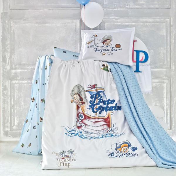 سرویس خواب نوزادی لوکا پاتیسکا مدل Pirate آبی 5 تکه