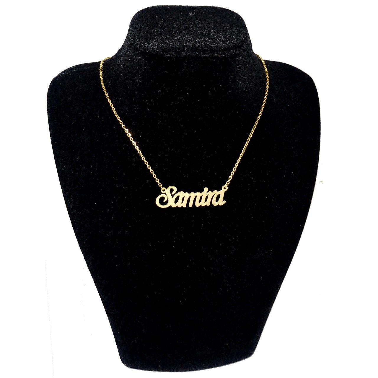 گردنبند آی جواهر طرح سمیرا انگلیسی کد ge1100107 -  - 1