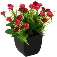 گلدان به همراه گل مصنوعی هومز  طرح میخک مدل 44046