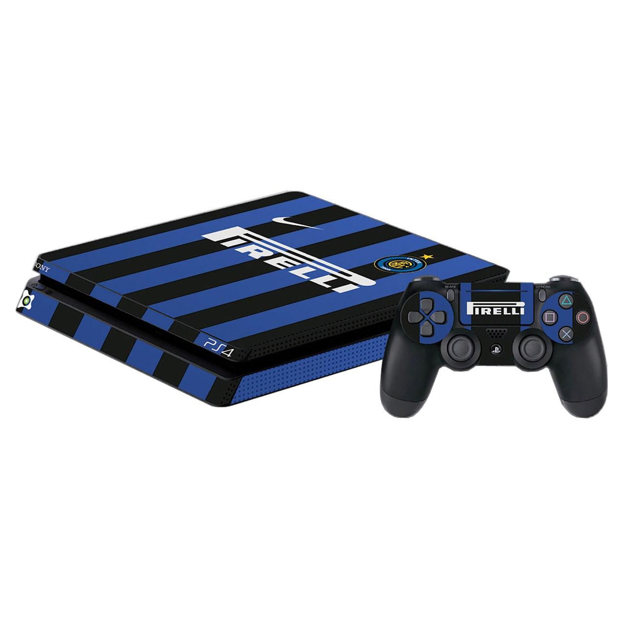 برچسب پلی استیشن 4 اسلیم آی گیمر طرح Inter Milan