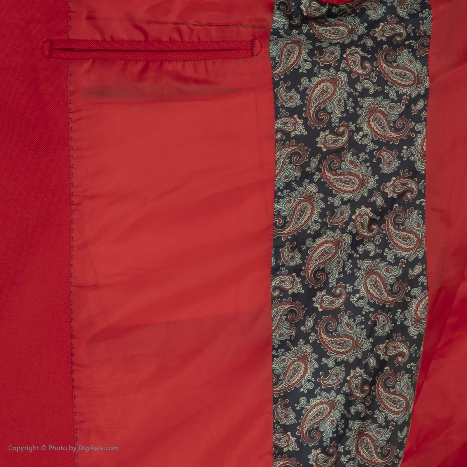 کت تک مردانه ان سی نو مدل جانسو رنگ قرمز -  - 6