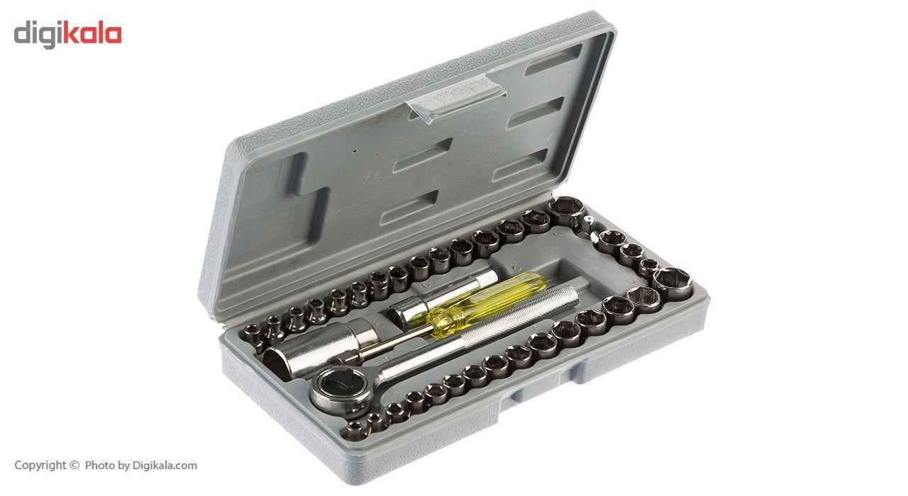 مجموعه 40 عددی آچار و سری بکس 3.8 اینچی main 1 1