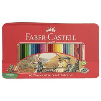 مداد رنگی 60 رنگ فابر-کاستل مدل Sketch