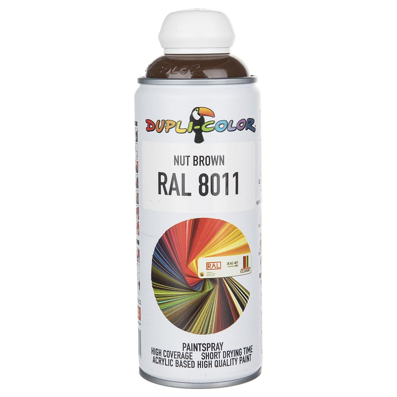 قیمت                                      اسپری رنگ قهوه ای دوپلی کالر مدل RAL 8011 حجم 400 میلی لیتر