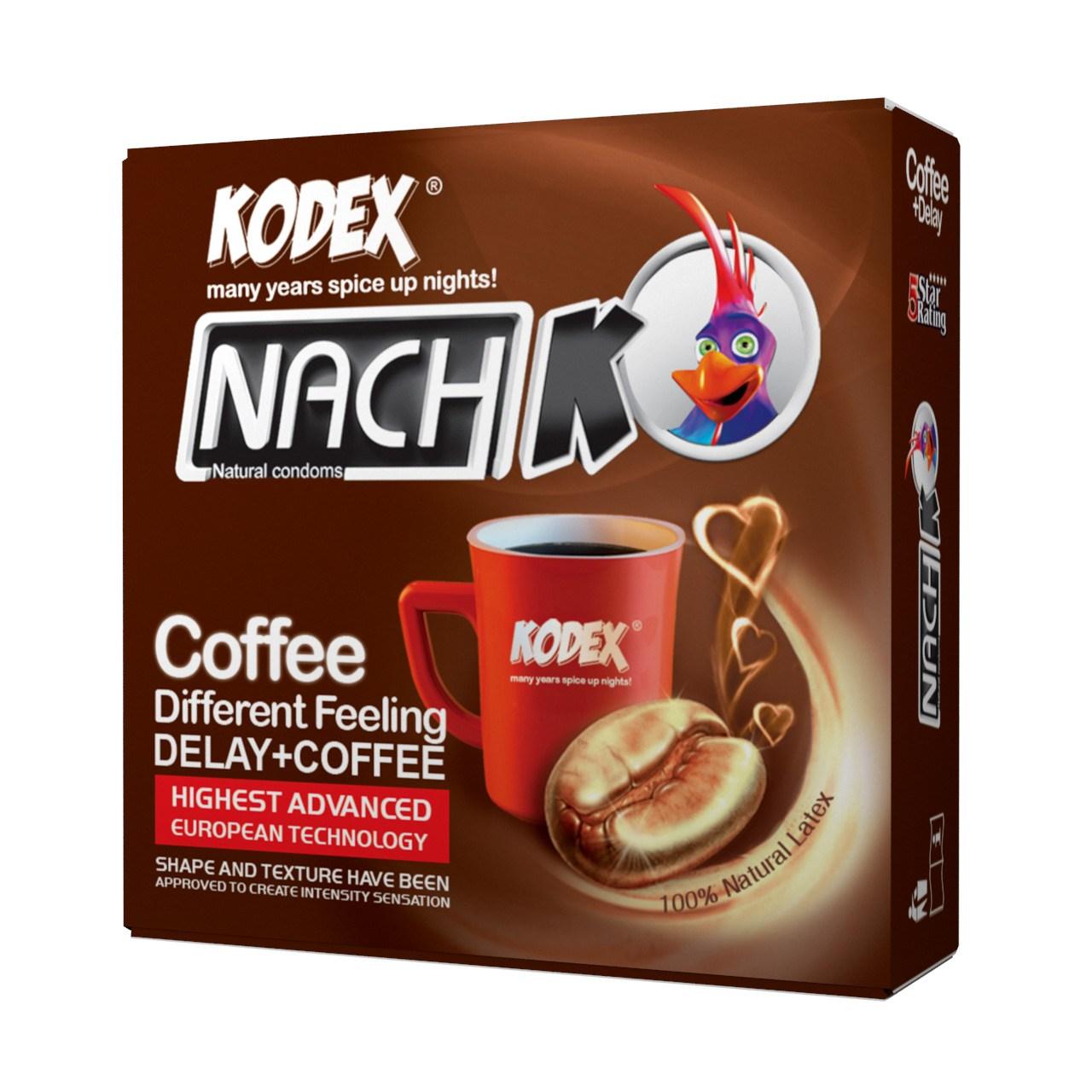 کاندوم کدکس مدل Coffee بسته 3 عددی