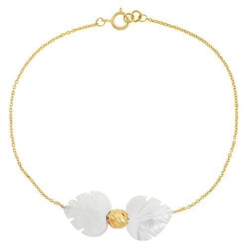 دستبند طلا 18 عیار ماهک مدل MB0175