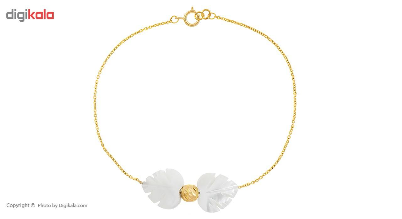 دستبند طلا 18 عیار ماهک مدل MB0175 - مایا ماهک -  - 2