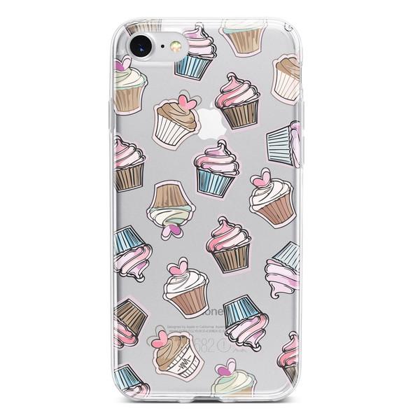 کاور  ژله ای وینا مدل  Cupcake  مناسب برای گوشی موبایل آیفون 7 و 8
