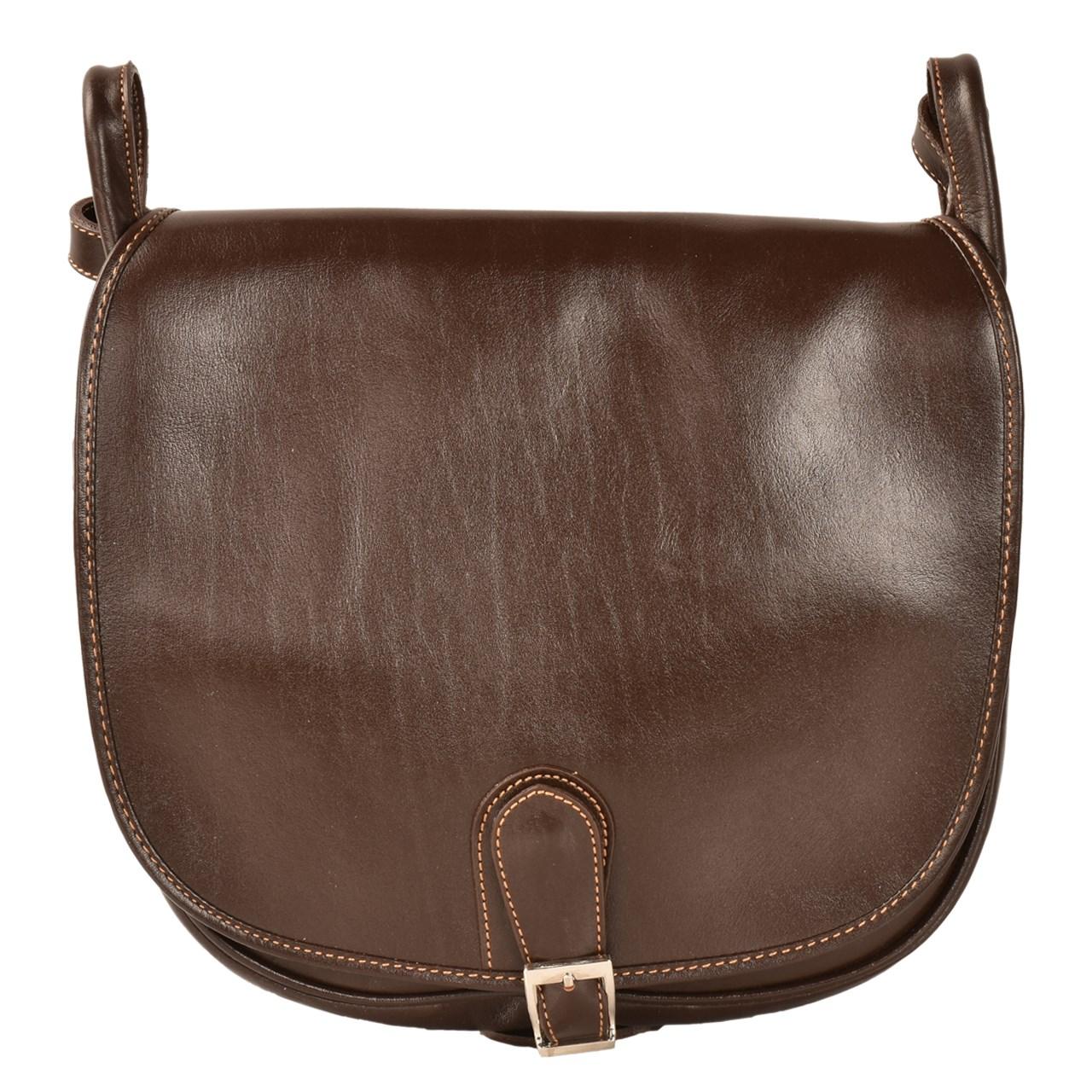 قیمت کیف رو دوشی چرم طبیعی کهن چرم مدل V153-7