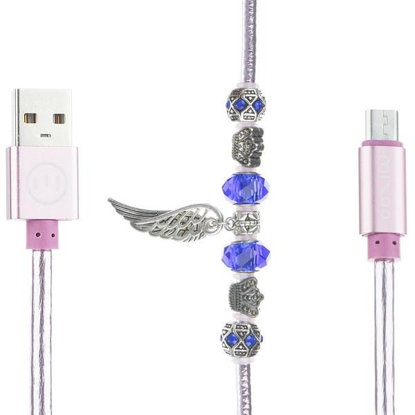 کابل تبدیل USB به microUSB میزو مدل X820 طول 0.5 متر
