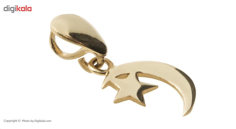 آویز گردنبند طلا 18 عیار ماهک مدل MM0590
