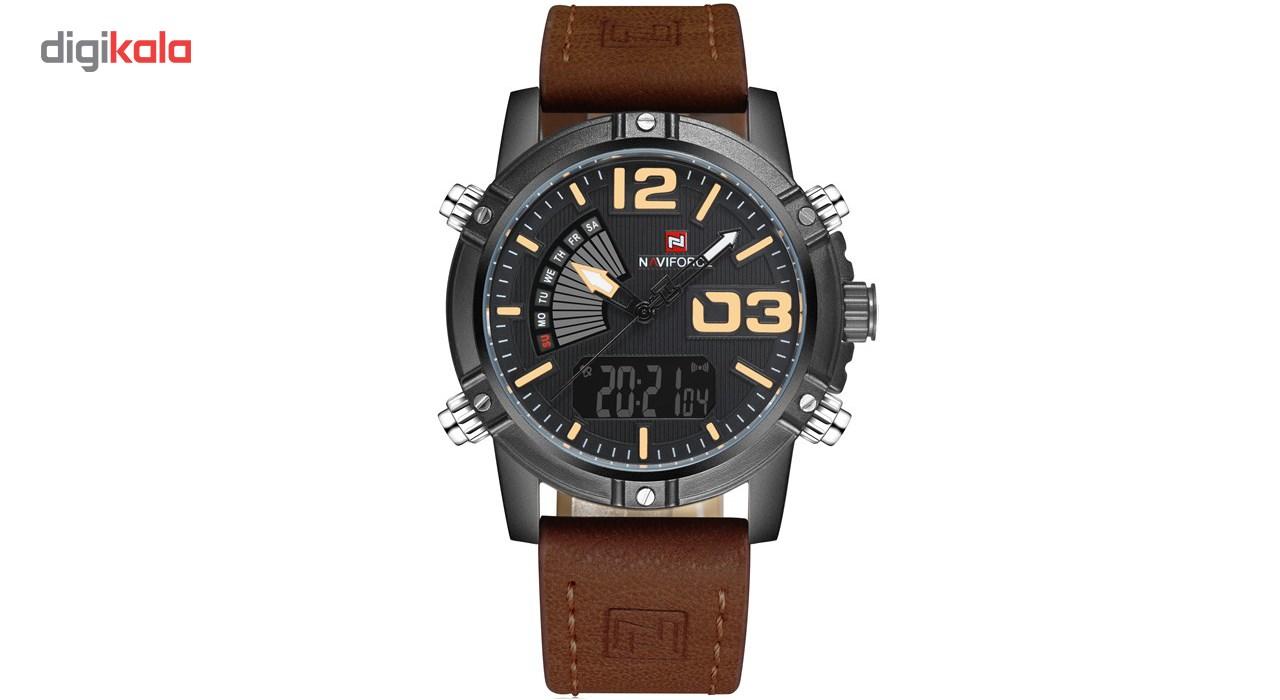 خرید ساعت مچی عقربه ای مردانه نیوی فورس مدل NF9095M/BBY