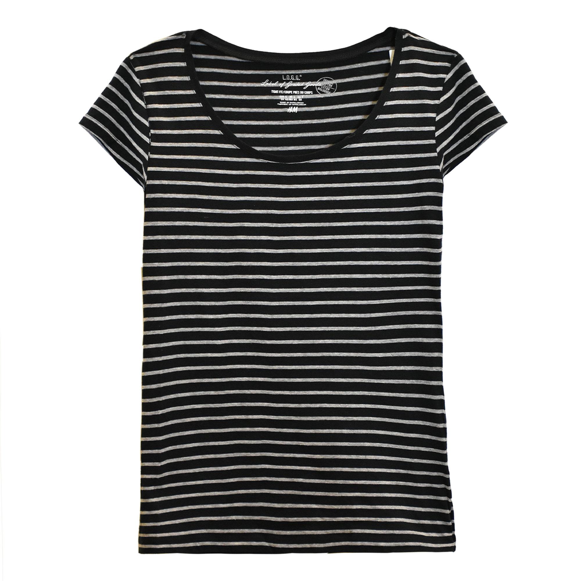 خرید                                      تی شرت زنانه اچ اند ام مدل  F1-0298243038