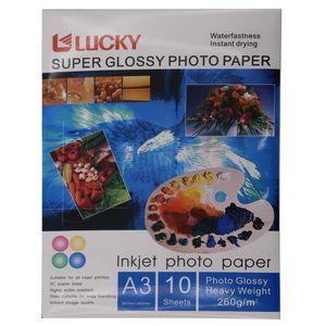 کاغذ عکس لاکی مدل Super Glossy سایز A3 بسته 10 عددی
