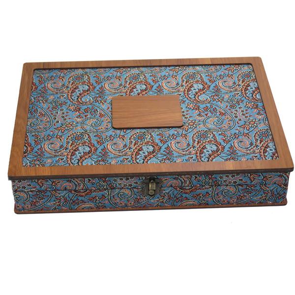 جعبه هدیه و کادو ترمه چای کیسه ای و دمنوش لوکس باکس  کد LB017