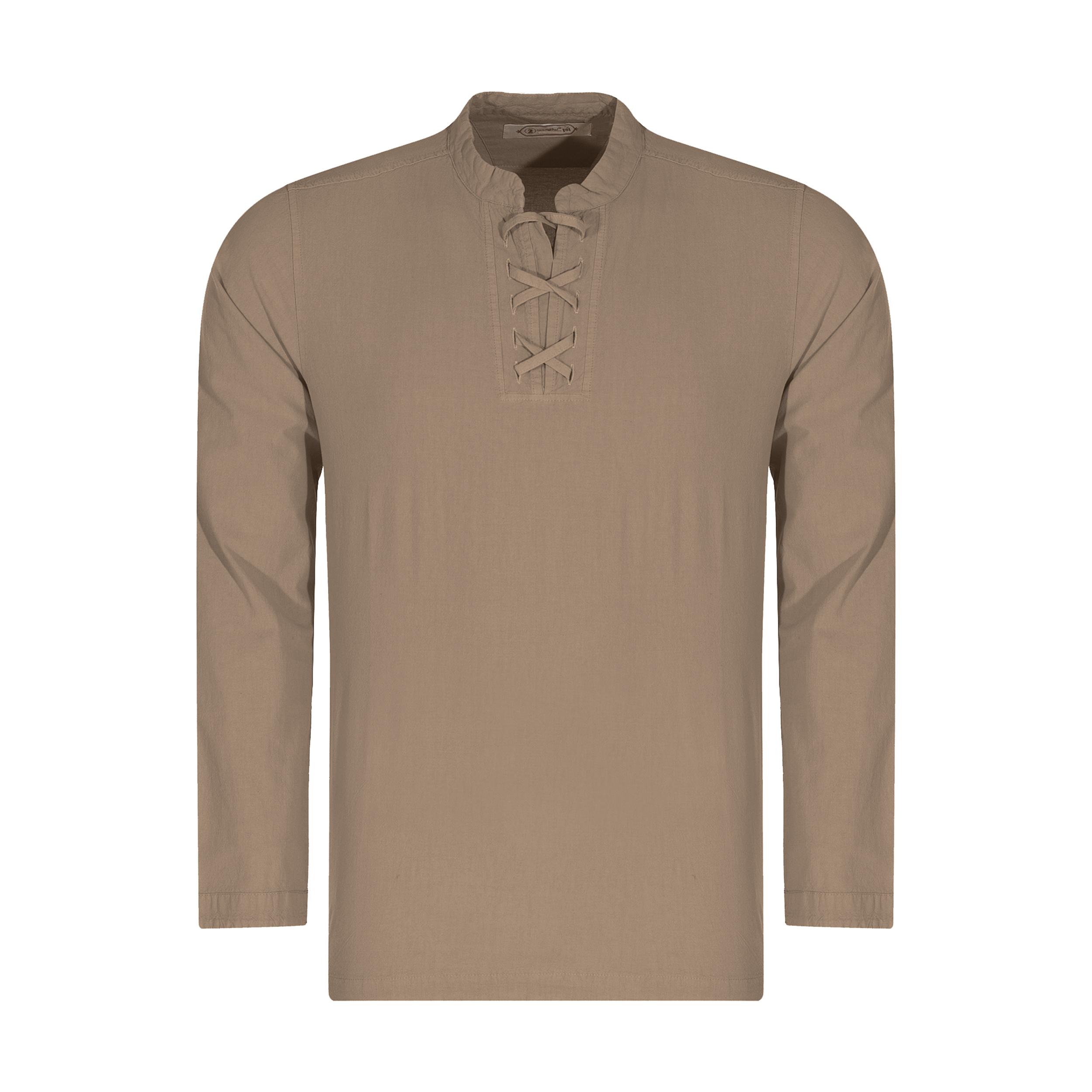 پیراهن مردانه تن درست مدل 107-COFFEE